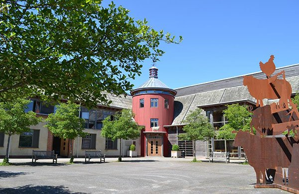 the courtyard at Sheepdrove