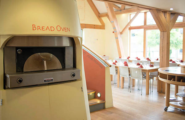 Bread oven in the kitchen at Sheepdrove