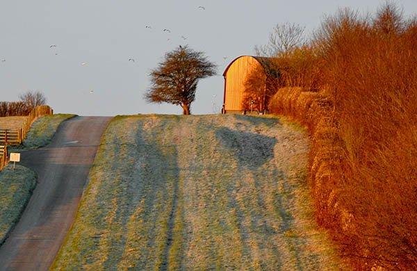 Road to Sheepdrove Organic Farm